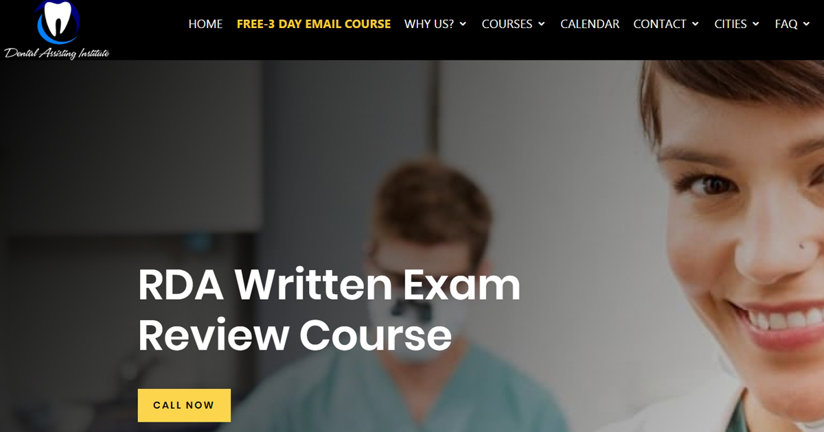RDA Written Exam Review Course Become A Dental Assistant